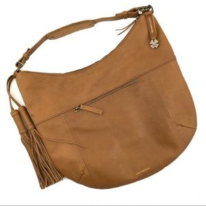 Lucky Brand Brown Leather Purse Shoulder Bag Large